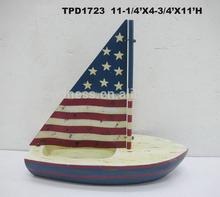 Metal/Wooden Crafts Nautical Sail Boat