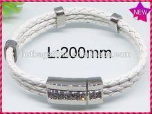 New Arrival Fashion vintage monogram single letter bracelet_alphabet p disc charm bracelet