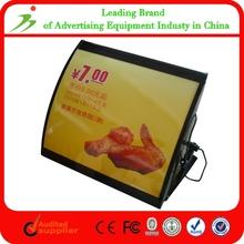 Super Beautiful Picture Fast Food Menu Light Box Frame