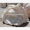 pfm hecho a mano chino casa vivid escultura estatua de león de mármol blanco