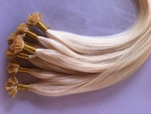 indian remy hot fusion human hair extensions wholesale factory price directly~with italian glue