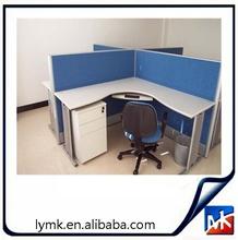 White High Gloss I-Shaped Metal Office Desk