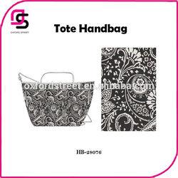 Art work designer canvas Paisley print fashion tote bag,new women shopping handbags