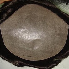Men's toupee, thin skin all around, and injected hand-tied, customized order