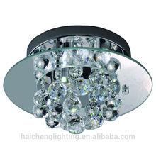 Art deco crystal led ceiling light fixtures