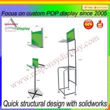 custom retail shop metal car accessories display stand/metal frame floor display stand/custom wiper display rack