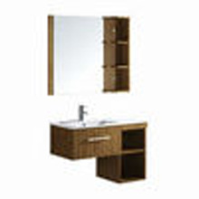 antique wall mounted Plywood bathroom cabinets with shelf and drawer F-078