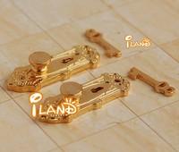 1:12 Doll house door lock w/ key wooden door lock and key two pairs