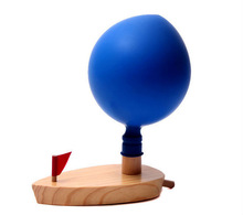classic kids toys wooden model ship with balloon