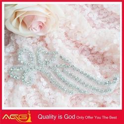 hot-sale Custom Made pretty diamond decorative crystal organza nylon