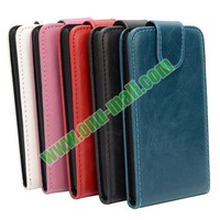 Vertical Flip Leather case for alcatel one touch idol OT6030D