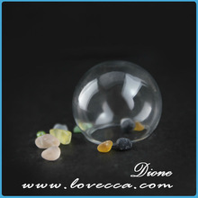 open mouth Hollow Glass Hand Blown Mini Glass Cover Crystal Ball