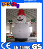 christmas inflatable snow man In the Garden