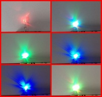 High Quality rgb led 3mm 7-Colors Fast Flashing Lighting Diodes ( CE & RoHS )