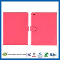2014 design for cell phone accessories book style flip leather case for ipad mini