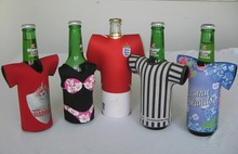 Fashion national flag neoprene insulated water bottle covers