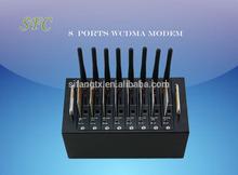 3G WCDMA HSDPA 8 Port modem pool SMS gateway,3G/UMTS 850/1900MHZ