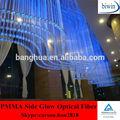 lado brilho de fibra óptica de plástico dispositivo elétrico de iluminação