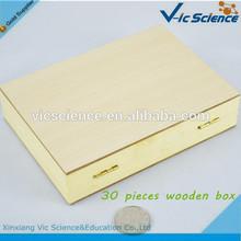 In low price ground edges wooden prepared slides box