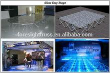 Modular aluminum stage for easy transportation