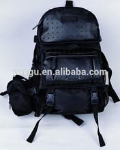 fashionable hiking backpack PU leather