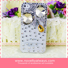 2014 hot selling luxury design bling diamond case for iphone, for iphone plastic cases diamond flower for iphone 5 5s