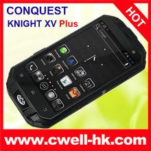 "CONQUEST KNIGHT XV T3 ip68 Waterproof Dustproof Shockproof smartphone 4.3"" IPS Corning Gorilla quad core wireless charger"