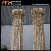Roman round new style outdoor stone column cladding