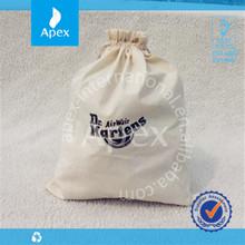 2014 custom printed drawstring cotton fabric gift bag