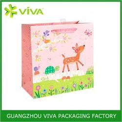 Reusable Paper printed shopping craft paper bag