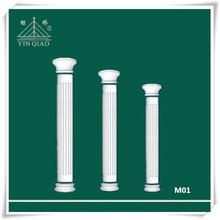 Villa design indoor Decor materials gypsum Roman column plaster pillar