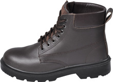 steel toe leather hit protective safety boot