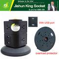 8 caminho socket pdu, 2 usb wall multi socket ac ficha com fusível produtos quentes para nova 2014