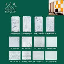 2014 high quality interior decoration fiberglass gypsum 3d wall art panel