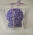 roxo bola de forma artesanal muitas flores vela lembrança de casamento