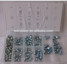 Plastic case 9 sizes 110pcs metric grease nipple assortment