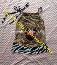 Newest Design Baby Satin Princess Skirt Funky Toddler Girls Zebra & Leopard Animal Print Ruffle Pillowcase Dresses