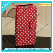 Candy polka dot leather phone case for samsung galaxy s3 i9300