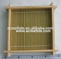 Wholesale eco-friendly natural flat bamboo basket