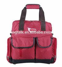 White Dot Red Nappy Mummy Bag Backpack Diaper Bag DM0073
