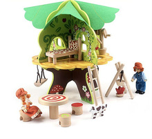 wooden dolls house cheaper tree doll house