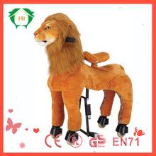 HI EN71 Promotional kids swing horse toy,mechanical horse toys,kid riding plush horse toy