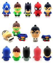 star wars spider man super heros usb flash drive 4 gb