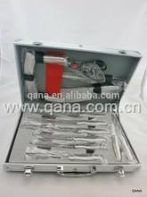 Best seller aluminum packing case sandwitch handle 13pcs kitchen knife set