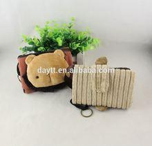handmade animal shape fabric clutch purse