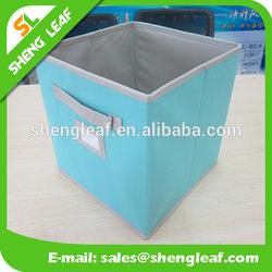 Blue folding bin in nonwoven