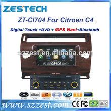 ZESTECH 2 din car dvd with android can-bus car gps for citroen c4 car gps navigator mp3 player digital TV