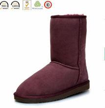 Nice Looking Sheepskin Snow Boot Women Sexy Purple Boot