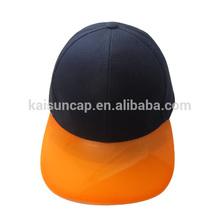 6 panel cap with transparent peak /PVC visor