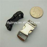 """1/2"""" Contoured metal slide buckle for ParaCord bracelet dog collar"""